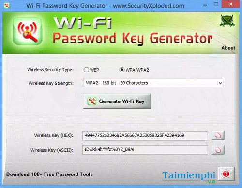 tai wifi password key