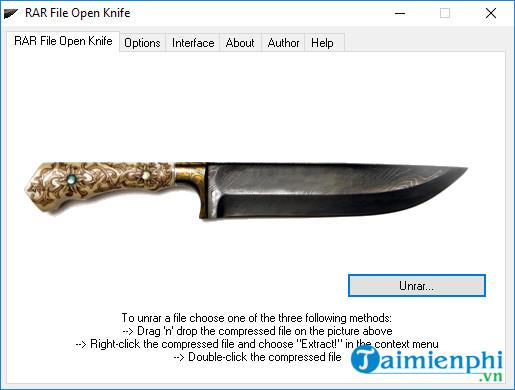 RAR File Open Knife