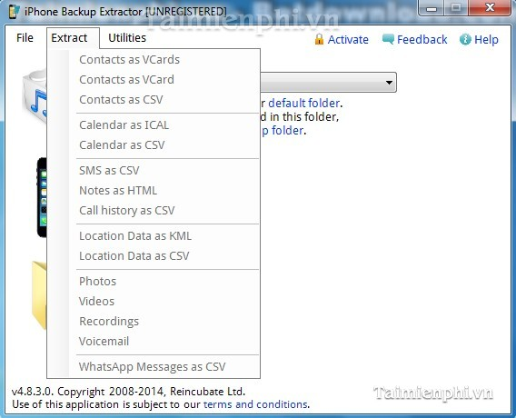 Download iPhone Backup Extractor 7 7 1 build 2135 - Phục hồi