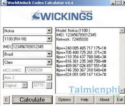 wickings calculator