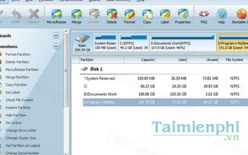 Download MiniTool Partition Wizard 11 5 - Chia ổ cứng máy