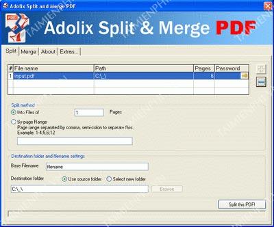 Adolix Split Merge PDF