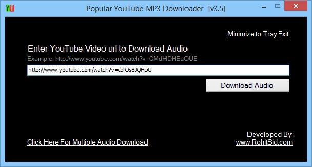 popular youtube mp3 downloader