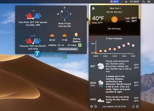 forecast bar for mac