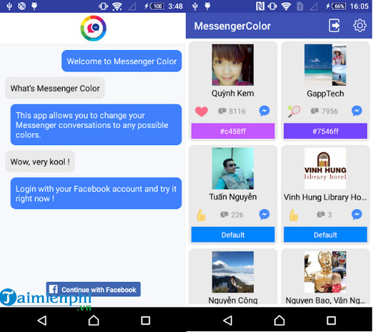 emoji color messenger