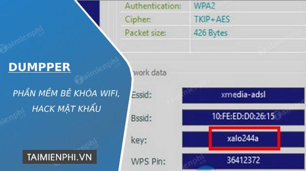 Dumpper Phần Mềm Bẻ Khoa Wifi Hack Mật Khẩu Taimienphi Vn