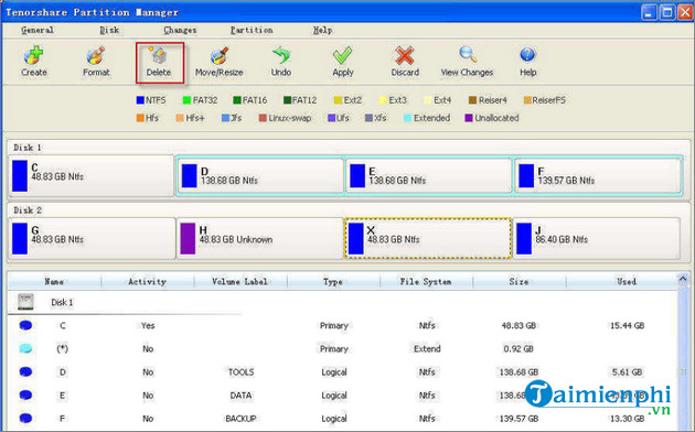 tenorshare free partition manager