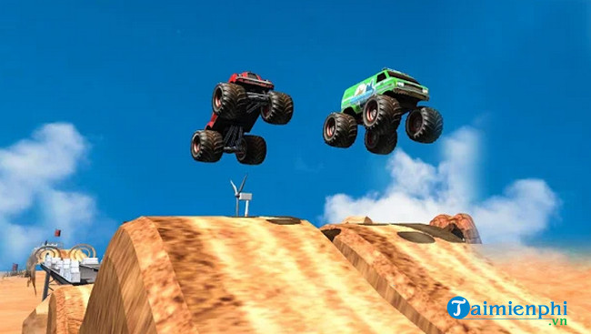 off road monster truck driving