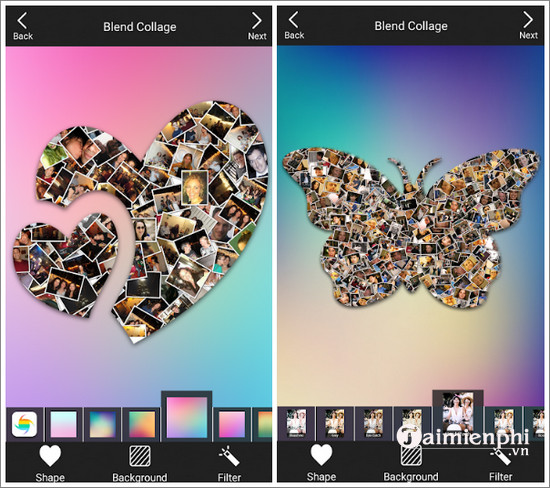 shape collage photo editor