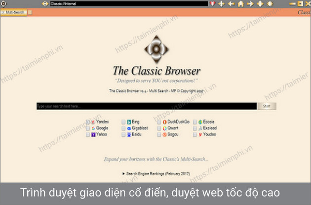 the classic browser