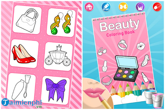 beauty coloring pages