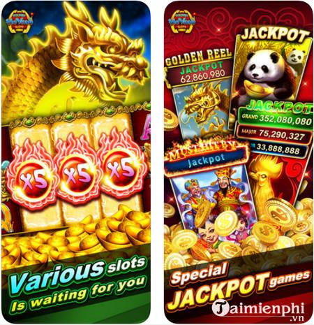 Download Golden HoYeah Slots cho iPhone - Game mô phỏng máy chơi xèng tại các sòng bài nổi tiếng Golden-hoyeah-slots-1