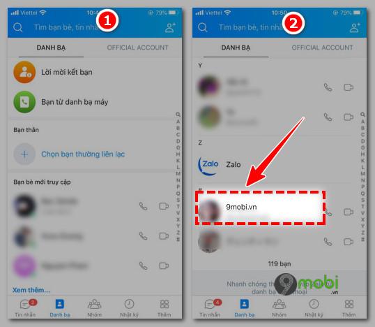 xoa lich su chat zalo tren iphone