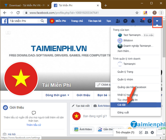 cach tai lich su chat facebook ve may tinh