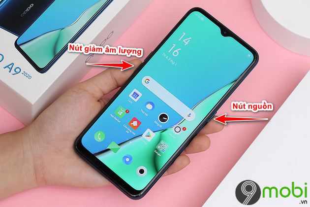 cach chup anh man hinh oppo a9