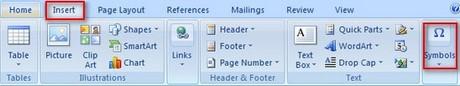 Cách chèn các kí tự đặc biệt vào file văn bản 1