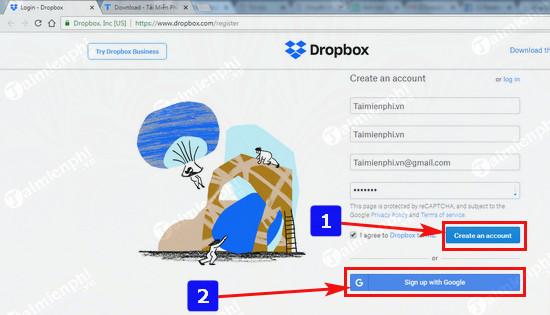 Đăng ký Dropbox, tải và lưu file trực tuyến miễn phí 1