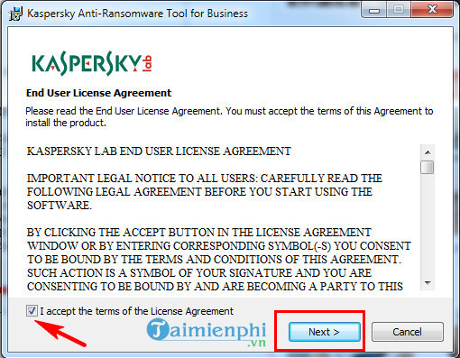 su dung kaspersky anti ransomware tool for business diet ransomware