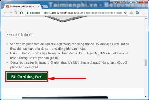 cach su dung excel online truc tuyen tren may tinh 2