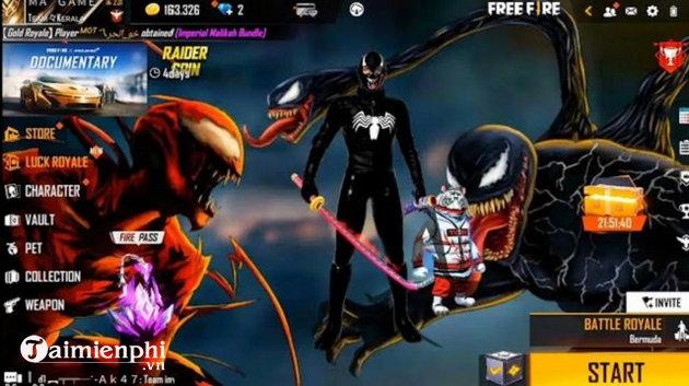 phan thuong su kien free fire x venom 2