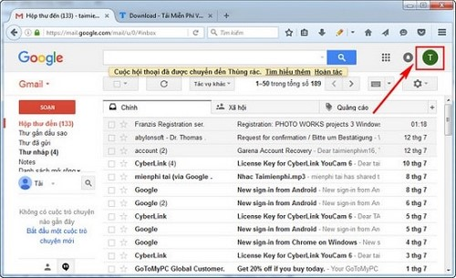 thoat gmail sign out gmail tren may tinh dien thoai