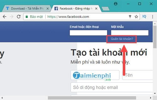 cach lay lai mat khau facebook bang gmail 2