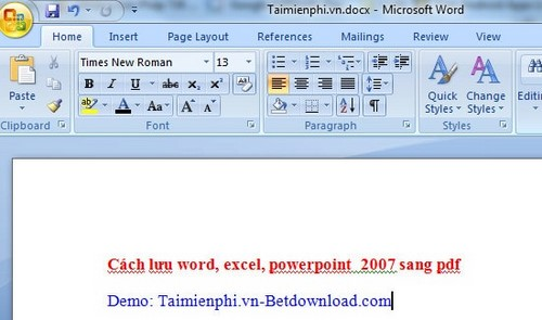 cach luu word excel powerpoint trong office 2007