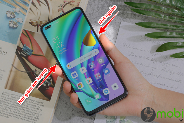 cach chup anh man hinh oppo a93