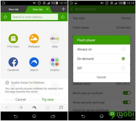 cai Flash Player cho Android 4.4