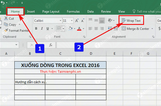 xuong dong trong excel