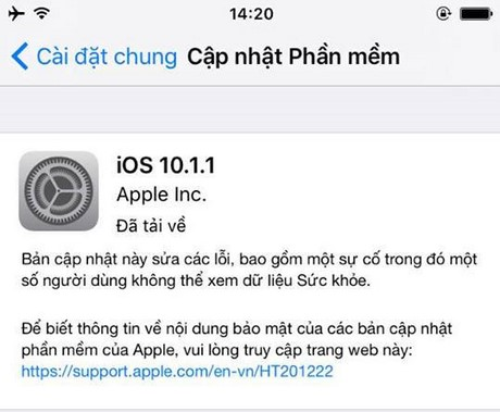 What's new in ios 10.1.1