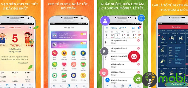 ung dung xem lich am tot nhat tren android iphone