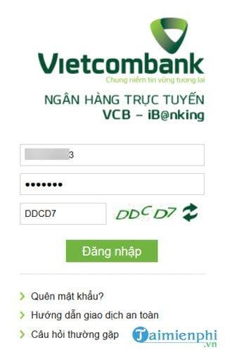 cach su dung internet banking vietcombank 2
