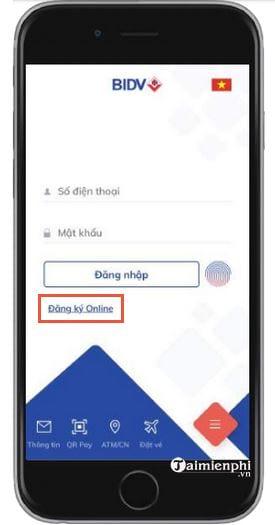 cach dang ky bidv smart banking online 2