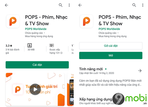 ung dung giai tri pops