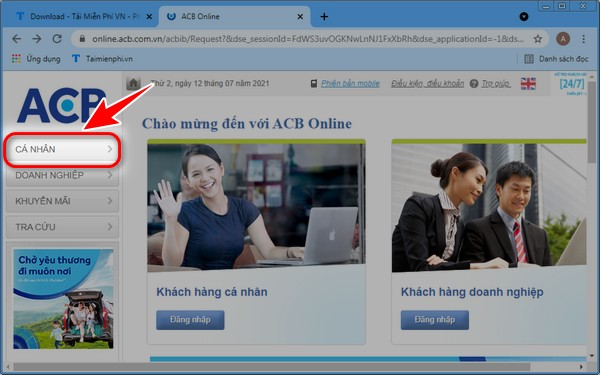 cach dang ky acb online