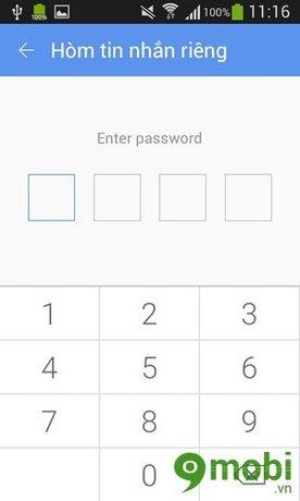 khoa tin nhan tren Android