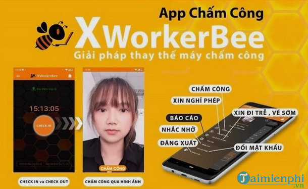 gioi thieu ve app cham cong xworkerbee