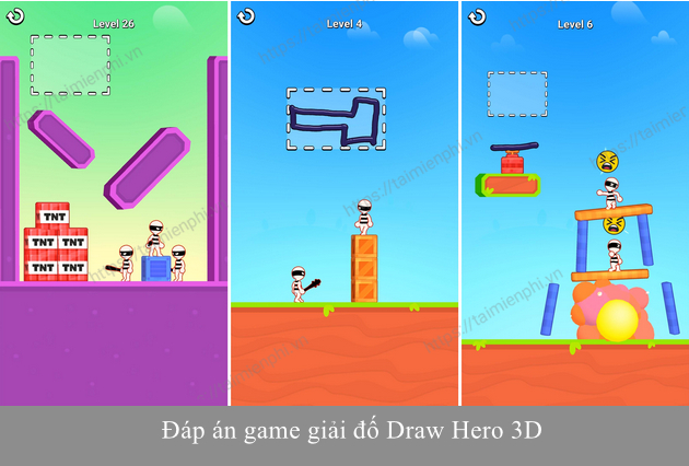dap an game draw hero 3d