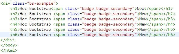 badge trong bootstrap