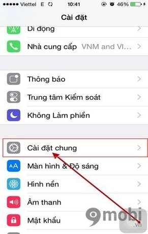 mo hien thi phan tram pin iPhone 6