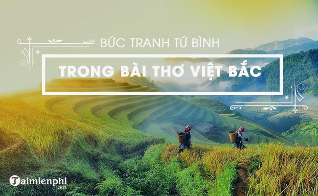 Bức tranh tứ bình trong bài Việt Bắc, Tố Hữu 1