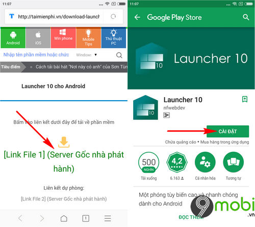cach cai giao dien windows 10 mobile tren dien thoai android bang launcher 10 2
