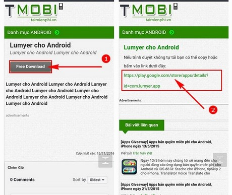 cach cai lumyer cho android