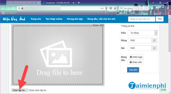 How to insert logo into online pictures on online 2