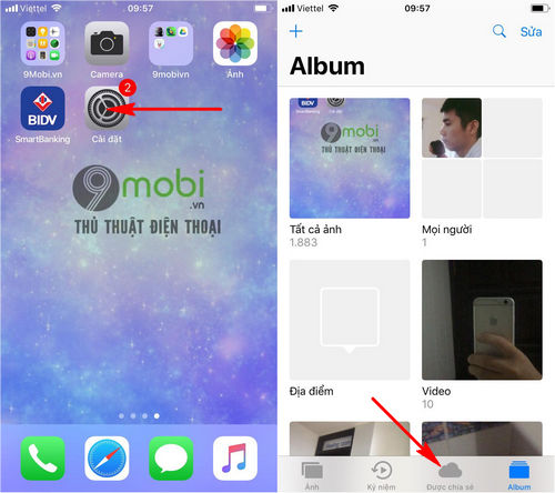 cach chia se anh tren iphone voi tinh nang family sharing 2