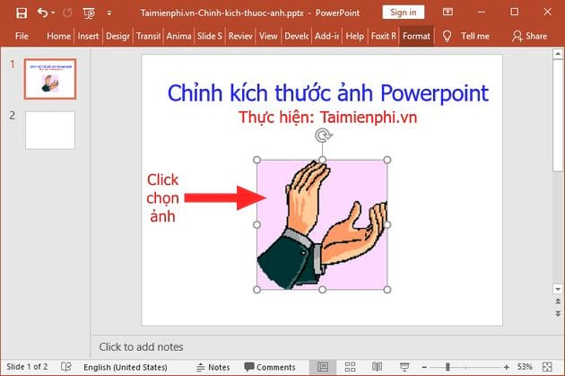 cach chinh kich thuoc anh powerpoint 2