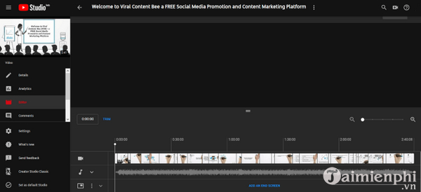 How to edit the youtube video does not make the link or the structure 2