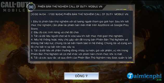 cach choi ban thu nghiem call of duty mobile vng tren android ios 2