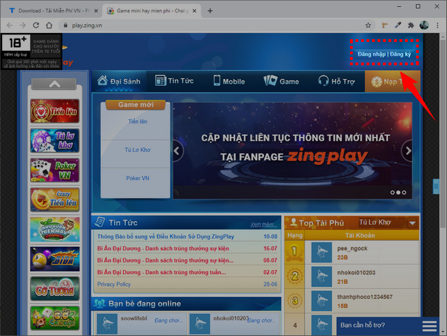 How to create a zing play account